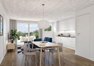Küche Innenraum Visualisierung