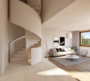 3D-Visualisierungen_Maisonette_Wohnung_MFH_Maur