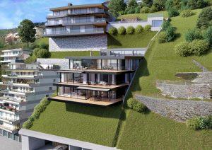 Terrassenhaus Architekturvisualisierung