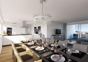 Wohnung Innenraum Visualisierung