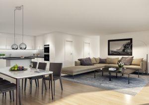 Moderne Wohnung - Realistische 3D-Visualisierung
