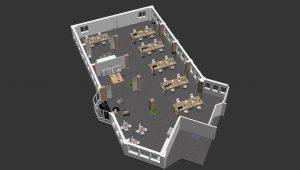 3D Grundriss Büro Etage