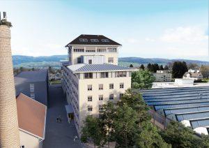 Luftbild Umbau Gebäude - Visualisierung