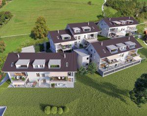 Luftbild Überbauung Siedlung Visualisierung