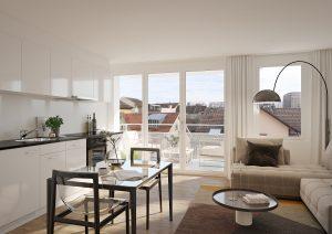 Wohnung Innenraum 3D Visualisierung