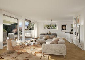 Fotorealistische Ansicht Wohnung