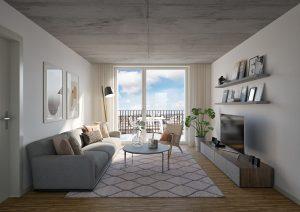 Wohnung Innenbereich Visualisierung