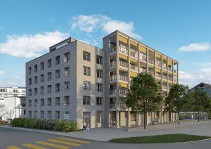 Neubau Mehrfamilienhaus Visualisierung