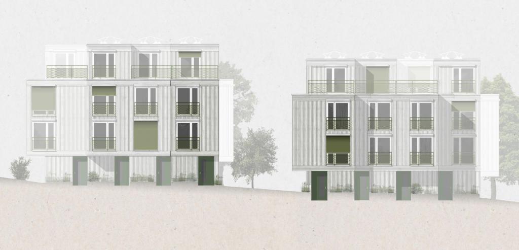 Neubau von 8 Reiheneinfamilienhäuser
