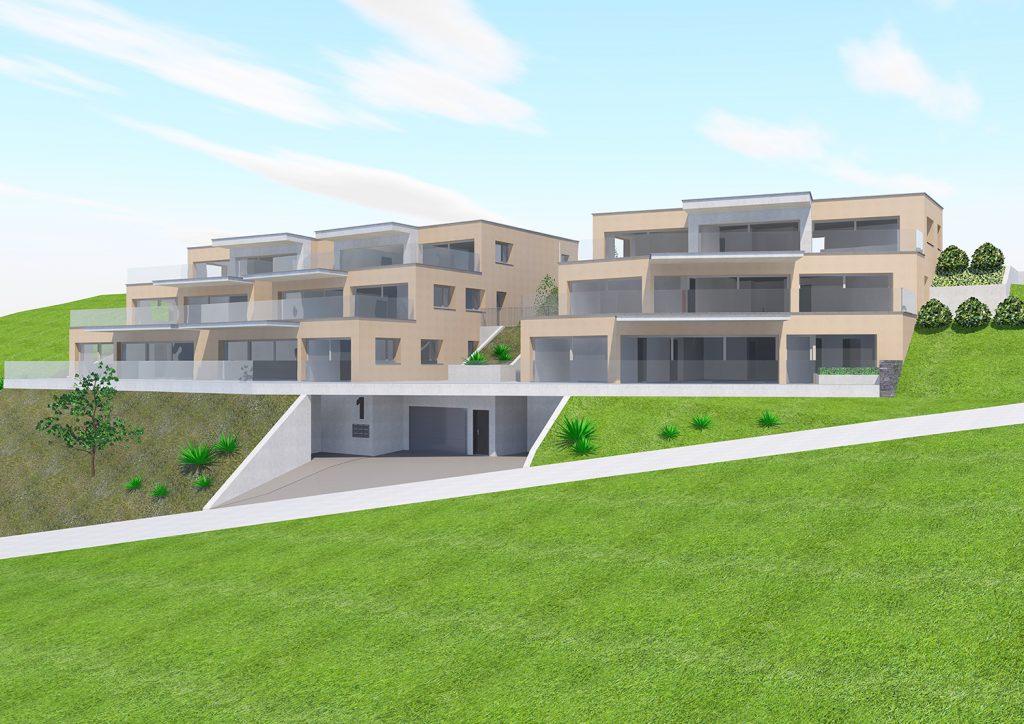 Neubau Überbauung  - Terrassenwohnungen