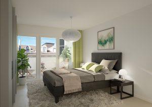 3D-Visualisierung-Schlafzimmer-Limmatstrasse-ZH