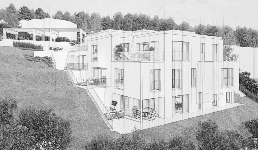Neubau Mehrfamilienhaus mit 5 Wohnungen in Maur