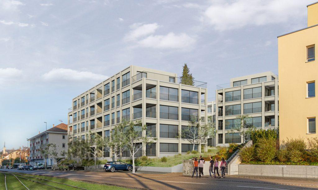 Neubauprojekt mit 35 Eigentumswohnungen