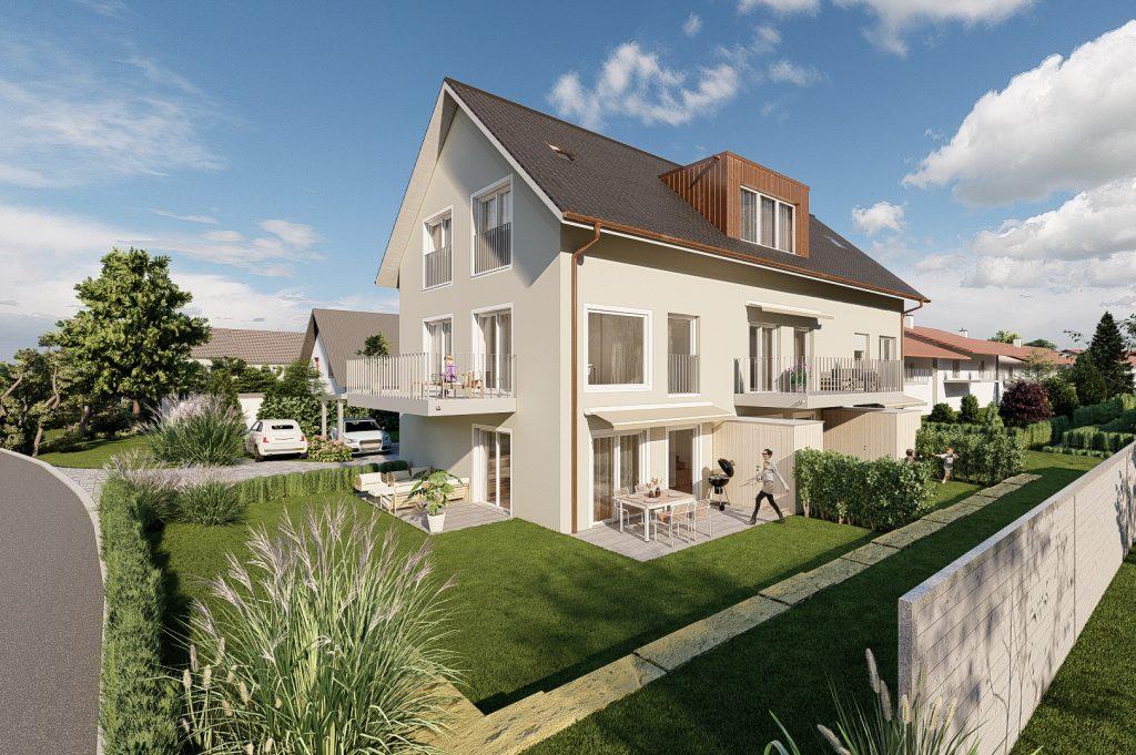 Neubau von drei Reihenhäusern mit 5.5 Zimmern