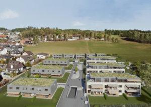 Architekturvisualisierung_Neubau_Siedlung_Wichtrach