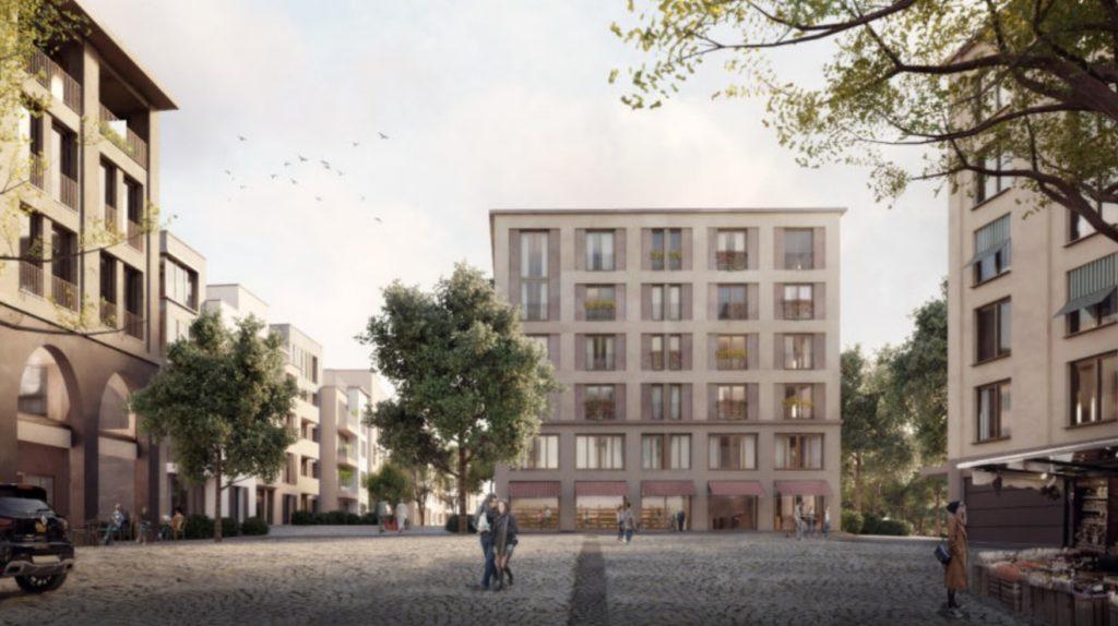 Neubau Überbauung Mehrfamilienhäuser