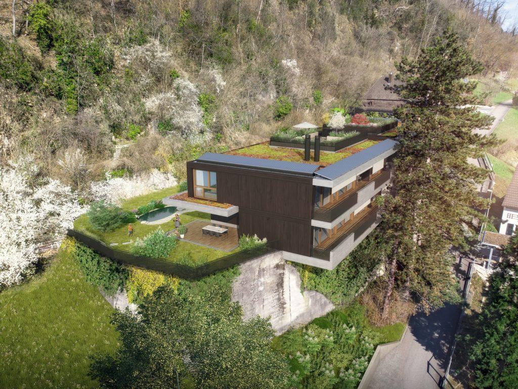Neubau 2 Wohnhäuser mit je 2 Wohnungen