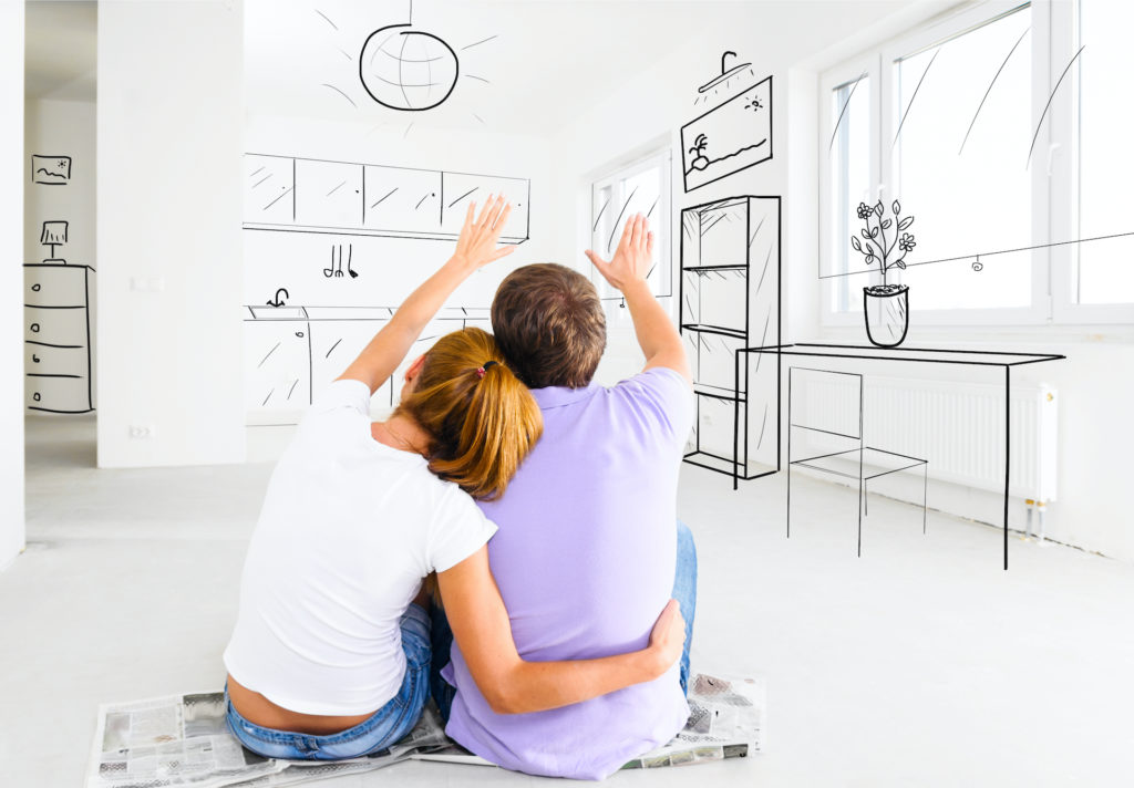 Couple,At,Their,New,Empty,Apartment