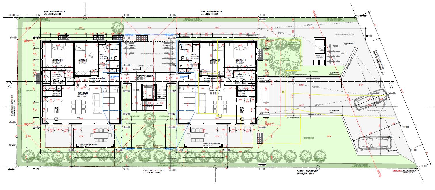 Neubau Mehrfamilienhaus mit 4 Eigentumswohnungen