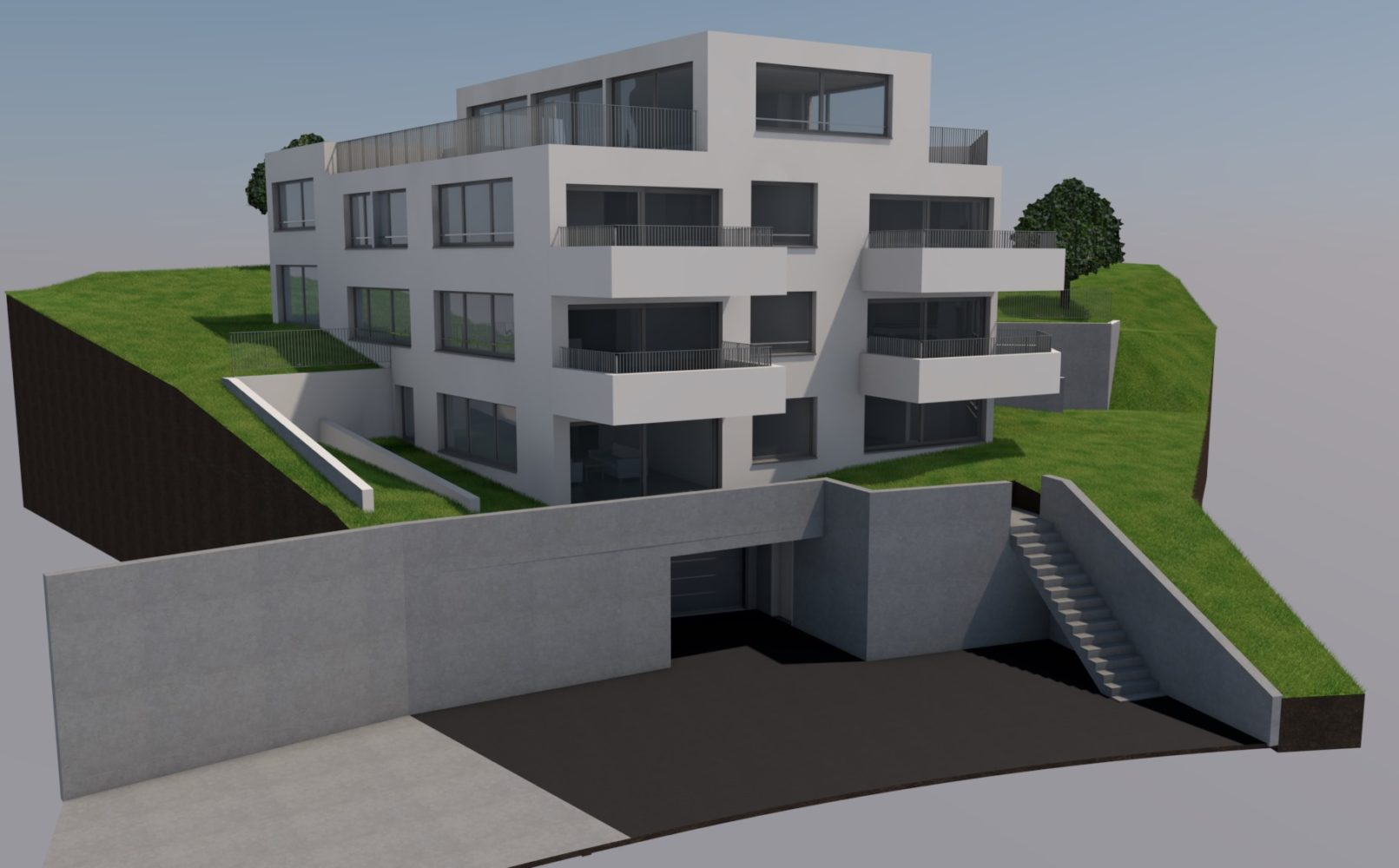Neubau MFH mit 6 Wohnungen an ruhiger Lage