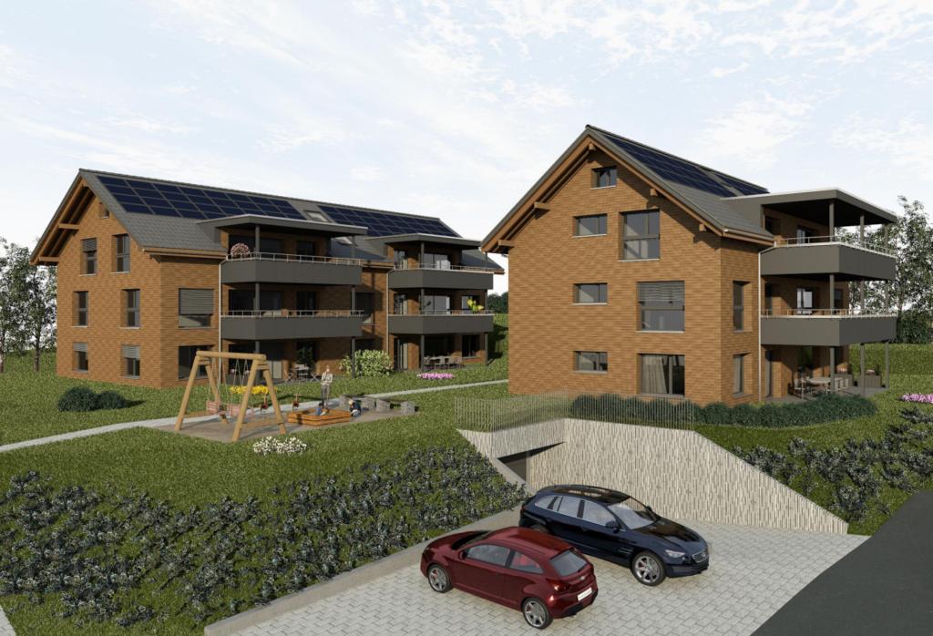 Neubau von zwei Mehrfamilienhäusern