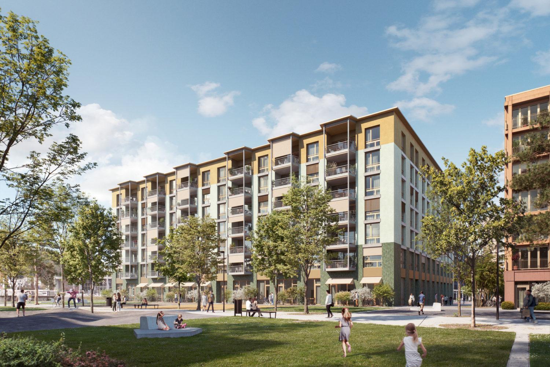 Neubau Wohngebäude mit 80 Wohnungen