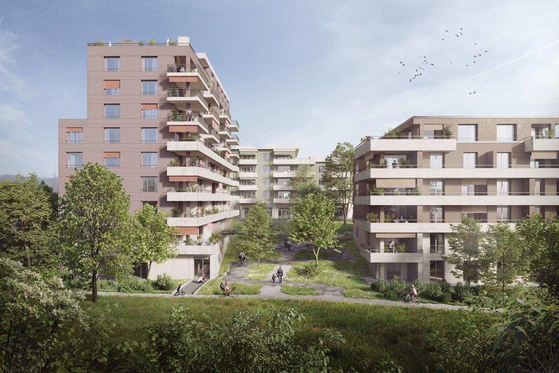 Neubau zwei Mehrfamilienhäuser im Baufeld B