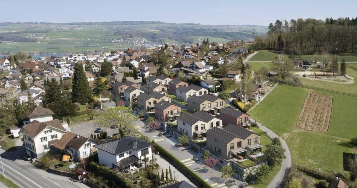 Neubau Wohnsiedlung mit 19 EFH + DEFH